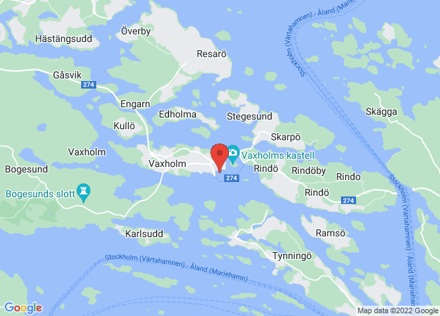 Map showing the location of Vaxholm