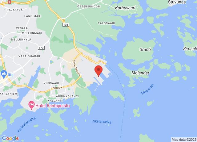 Map showing the location of Vuosaari