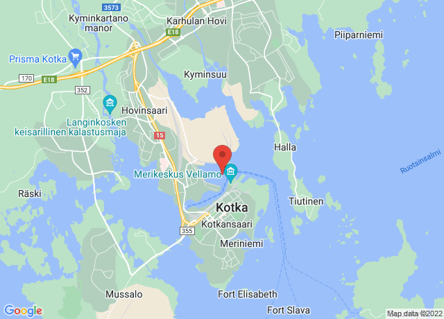 Map showing the location of Kotka