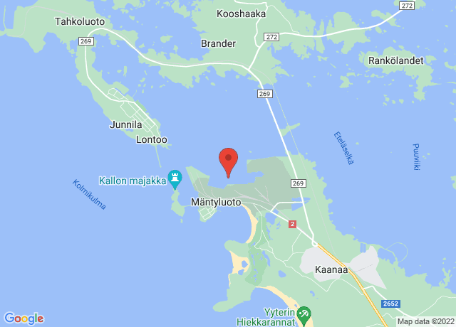 Map showing the location of Mantyluoto