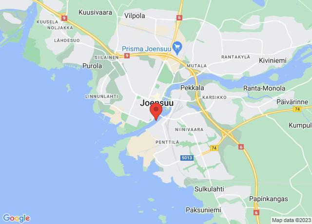 Map showing the location of Joensuu