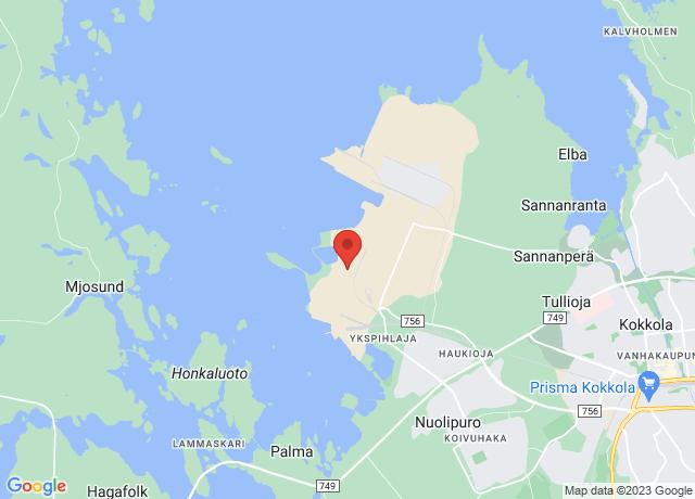 Map showing the location of Kokkola