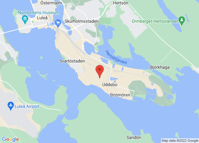 Map showing the location of Lulea