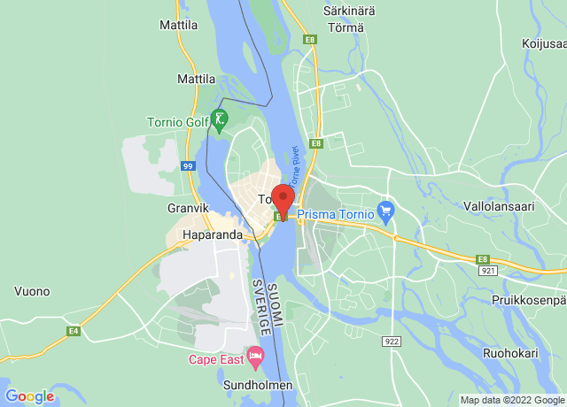 Map showing the location of Tornio