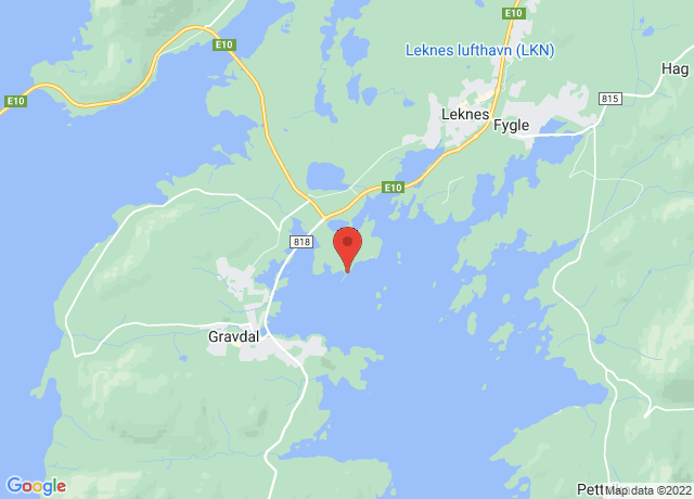 Map showing the location of Leknes