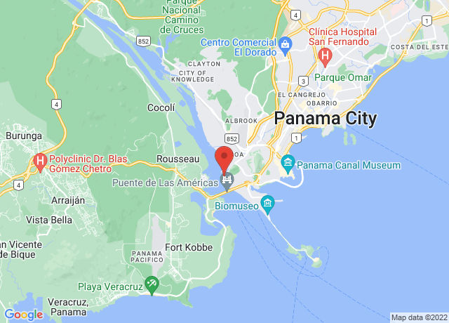 Map showing the location of Balboa