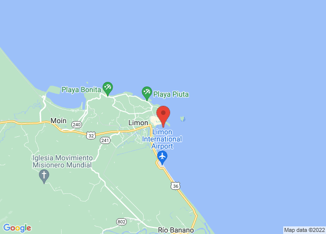 Map showing the location of Limon