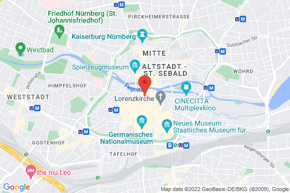https://maps.googleapis.com/maps/api/staticmap?markers=color:red|Adlerstraße 22 90403 Nürnberg&center=Adlerstraße 22 90403 Nürnberg&zoom=14&size=588x392&key=AIzaSyBq_Y8YRNWV5l-KFo7MeT1QgfjIbI8vc3c