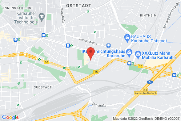 https://maps.googleapis.com/maps/api/staticmap?markers=color:red|Alter Schlachthof 45 76131 Karlsruhe&center=Alter Schlachthof 45 76131 Karlsruhe&zoom=14&size=588x392&key=AIzaSyBq_Y8YRNWV5l-KFo7MeT1QgfjIbI8vc3c