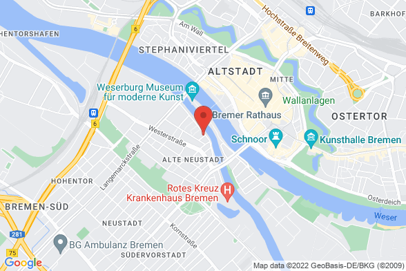 https://maps.googleapis.com/maps/api/staticmap?markers=color:red|Am Deich 76 28199 Bremen&center=Am Deich 76 28199 Bremen&zoom=14&size=588x392&key=AIzaSyBq_Y8YRNWV5l-KFo7MeT1QgfjIbI8vc3c