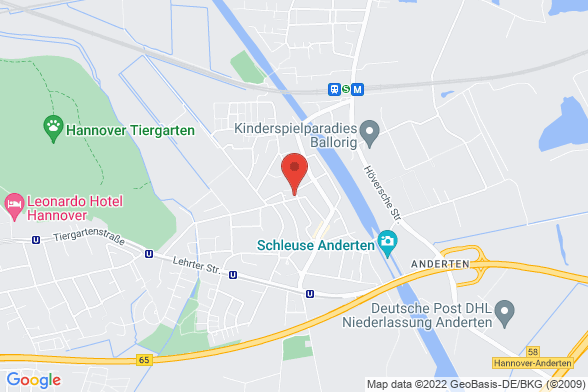 https://maps.googleapis.com/maps/api/staticmap?markers=color:red|Am Tiergarten 2 30559 Hannover&center=Am Tiergarten 2 30559 Hannover&zoom=14&size=588x392&key=AIzaSyBq_Y8YRNWV5l-KFo7MeT1QgfjIbI8vc3c