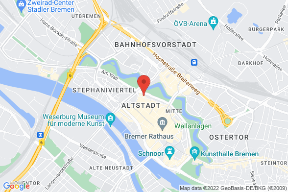 https://maps.googleapis.com/maps/api/staticmap?markers=color:red|Am Wall 116 28195 Bremen&center=Am Wall 116 28195 Bremen&zoom=14&size=588x392&key=AIzaSyBq_Y8YRNWV5l-KFo7MeT1QgfjIbI8vc3c