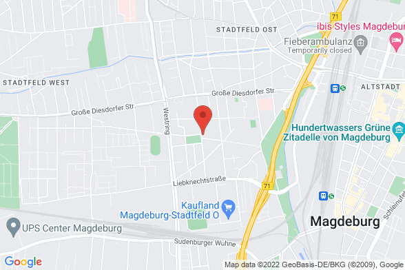 https://maps.googleapis.com/maps/api/staticmap?markers=color:red|Annastraße 33 39108 Magdeburg&center=Annastraße 33 39108 Magdeburg&zoom=14&size=588x392&key=AIzaSyBq_Y8YRNWV5l-KFo7MeT1QgfjIbI8vc3c
