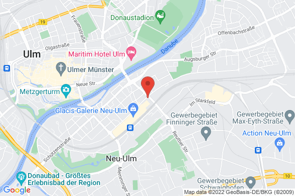 https://maps.googleapis.com/maps/api/staticmap?markers=color:red|Bahnhofstrasse 41 89231 Neu-Ulm&center=Bahnhofstrasse 41 89231 Neu-Ulm&zoom=14&size=588x392&key=AIzaSyBq_Y8YRNWV5l-KFo7MeT1QgfjIbI8vc3c