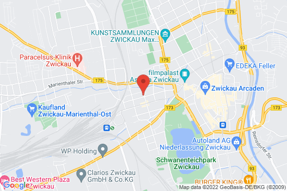 https://maps.googleapis.com/maps/api/staticmap?markers=color:red|Brunnenstrasse 21 08056 Zwickau&center=Brunnenstrasse 21 08056 Zwickau&zoom=14&size=588x392&key=AIzaSyBq_Y8YRNWV5l-KFo7MeT1QgfjIbI8vc3c