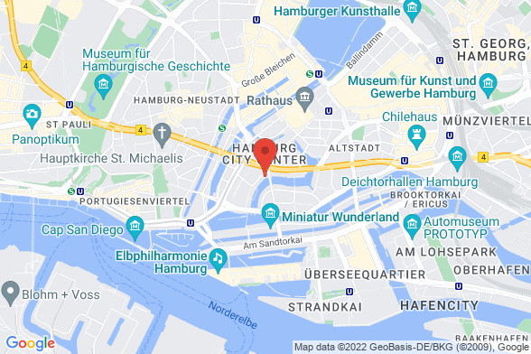 https://maps.googleapis.com/maps/api/staticmap?markers=color:red|Deichstraße 1 20459 Hamburg&center=Deichstraße 1 20459 Hamburg&zoom=14&size=588x392&key=AIzaSyBq_Y8YRNWV5l-KFo7MeT1QgfjIbI8vc3c