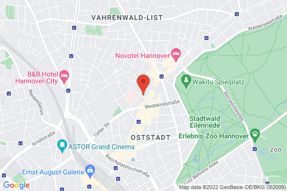 https://maps.googleapis.com/maps/api/staticmap?markers=color:red|Drostestraße 16 30161 Hannover&center=Drostestraße 16 30161 Hannover&zoom=14&size=588x392&key=AIzaSyBq_Y8YRNWV5l-KFo7MeT1QgfjIbI8vc3c