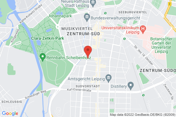 https://maps.googleapis.com/maps/api/staticmap?markers=color:red|Dufourstraße 23 04107 Leipzig&center=Dufourstraße 23 04107 Leipzig&zoom=14&size=588x392&key=AIzaSyBq_Y8YRNWV5l-KFo7MeT1QgfjIbI8vc3c