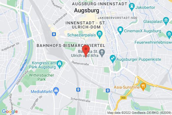 https://maps.googleapis.com/maps/api/staticmap?markers=color:red|Frohsinnstraße 7 86150 Augsburg&center=Frohsinnstraße 7 86150 Augsburg&zoom=14&size=588x392&key=AIzaSyBq_Y8YRNWV5l-KFo7MeT1QgfjIbI8vc3c