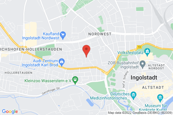 https://maps.googleapis.com/maps/api/staticmap?markers=color:red|Fuggerstraße 8 85057 Ingolstadt&center=Fuggerstraße 8 85057 Ingolstadt&zoom=14&size=588x392&key=AIzaSyBq_Y8YRNWV5l-KFo7MeT1QgfjIbI8vc3c