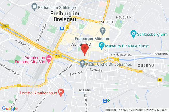 https://maps.googleapis.com/maps/api/staticmap?markers=color:red|Gartenstraße 21 79098 Freiburg&center=Gartenstraße 21 79098 Freiburg&zoom=14&size=588x392&key=AIzaSyBq_Y8YRNWV5l-KFo7MeT1QgfjIbI8vc3c