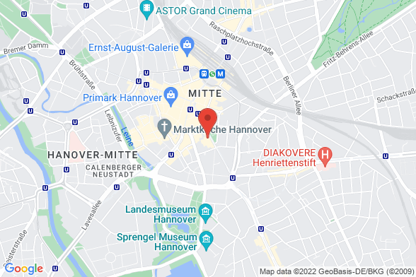 https://maps.googleapis.com/maps/api/staticmap?markers=color:red|Georgstraße 50 30159 Hannover&center=Georgstraße 50 30159 Hannover&zoom=14&size=588x392&key=AIzaSyBq_Y8YRNWV5l-KFo7MeT1QgfjIbI8vc3c