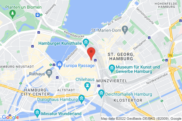 https://maps.googleapis.com/maps/api/staticmap?markers=color:red|Glockengießerwall 2 20095 Hamburg&center=Glockengießerwall 2 20095 Hamburg&zoom=14&size=588x392&key=AIzaSyBq_Y8YRNWV5l-KFo7MeT1QgfjIbI8vc3c