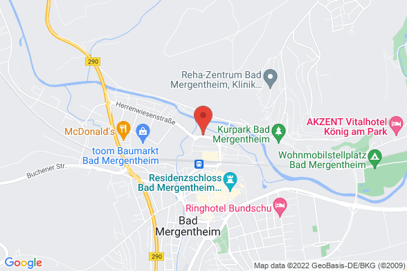 https://maps.googleapis.com/maps/api/staticmap?markers=color:red|Herrenwiesenstraße 12 97980 Bad Mergentheim&center=Herrenwiesenstraße 12 97980 Bad Mergentheim&zoom=14&size=588x392&key=AIzaSyBq_Y8YRNWV5l-KFo7MeT1QgfjIbI8vc3c