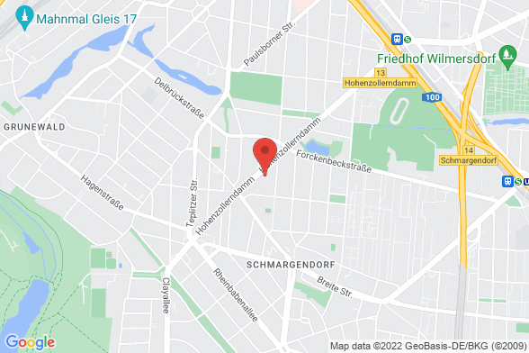 https://maps.googleapis.com/maps/api/staticmap?markers=color:red|Hohenzollerndamm 123 14467 Potsdam&center=Hohenzollerndamm 123 14467 Potsdam&zoom=14&size=588x392&key=AIzaSyBq_Y8YRNWV5l-KFo7MeT1QgfjIbI8vc3c