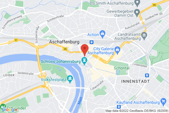 https://maps.googleapis.com/maps/api/staticmap?markers=color:red|Karlstraße 19-23 63739 Aschaffenburg&center=Karlstraße 19-23 63739 Aschaffenburg&zoom=14&size=588x392&key=AIzaSyBq_Y8YRNWV5l-KFo7MeT1QgfjIbI8vc3c