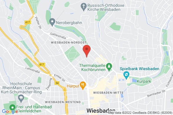 https://maps.googleapis.com/maps/api/staticmap?markers=color:red|Kellerstraße 4 65183 Wiesbaden&center=Kellerstraße 4 65183 Wiesbaden&zoom=14&size=588x392&key=AIzaSyBq_Y8YRNWV5l-KFo7MeT1QgfjIbI8vc3c