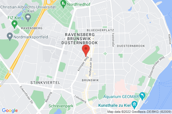 https://maps.googleapis.com/maps/api/staticmap?markers=color:red|Knooper Weg 175 24118 Kiel&center=Knooper Weg 175 24118 Kiel&zoom=14&size=588x392&key=AIzaSyBq_Y8YRNWV5l-KFo7MeT1QgfjIbI8vc3c