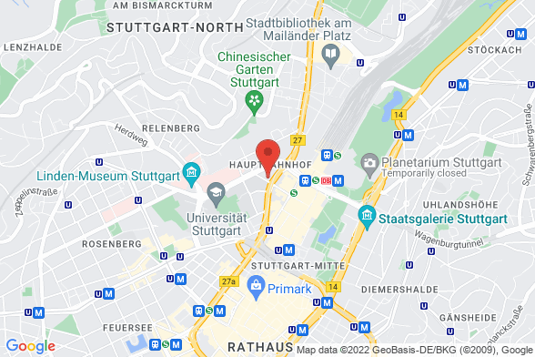 https://maps.googleapis.com/maps/api/staticmap?markers=color:red|Kronenstraße 30 70174 Stuttgart&center=Kronenstraße 30 70174 Stuttgart&zoom=14&size=588x392&key=AIzaSyBq_Y8YRNWV5l-KFo7MeT1QgfjIbI8vc3c