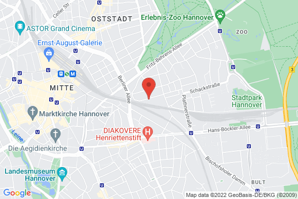 https://maps.googleapis.com/maps/api/staticmap?markers=color:red|Leisewitzstraße 41/ 43 30175 Hannover&center=Leisewitzstraße 41/ 43 30175 Hannover&zoom=14&size=588x392&key=AIzaSyBq_Y8YRNWV5l-KFo7MeT1QgfjIbI8vc3c