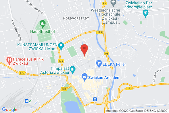 https://maps.googleapis.com/maps/api/staticmap?markers=color:red|Moritzstraße 35 08056 Zwickau&center=Moritzstraße 35 08056 Zwickau&zoom=14&size=588x392&key=AIzaSyBq_Y8YRNWV5l-KFo7MeT1QgfjIbI8vc3c