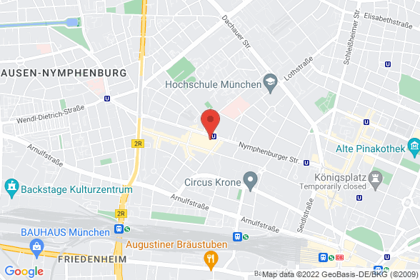 https://maps.googleapis.com/maps/api/staticmap?markers=color:red|Nymphenburger Straße 77 80636 München&center=Nymphenburger Straße 77 80636 München&zoom=14&size=588x392&key=AIzaSyBq_Y8YRNWV5l-KFo7MeT1QgfjIbI8vc3c