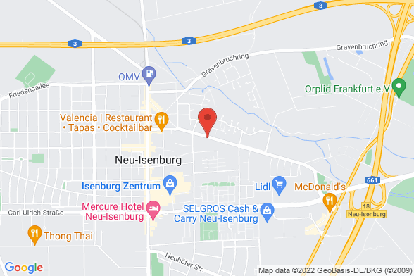 https://maps.googleapis.com/maps/api/staticmap?markers=color:red|Offenbacher Straße 99 63263 Neu-Isenburg&center=Offenbacher Straße 99 63263 Neu-Isenburg&zoom=14&size=588x392&key=AIzaSyBq_Y8YRNWV5l-KFo7MeT1QgfjIbI8vc3c