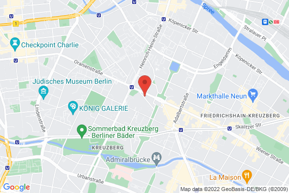 https://maps.googleapis.com/maps/api/staticmap?markers=color:red|Prinzessinnenstraße 14 10969 Berlin&center=Prinzessinnenstraße 14 10969 Berlin&zoom=14&size=588x392&key=AIzaSyBq_Y8YRNWV5l-KFo7MeT1QgfjIbI8vc3c