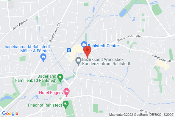 https://maps.googleapis.com/maps/api/staticmap?markers=color:red|Rahlstedter Straße 140 22143 Hamburg&center=Rahlstedter Straße 140 22143 Hamburg&zoom=14&size=588x392&key=AIzaSyBq_Y8YRNWV5l-KFo7MeT1QgfjIbI8vc3c