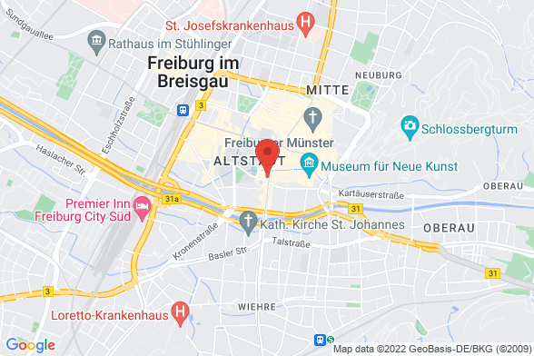 https://maps.googleapis.com/maps/api/staticmap?markers=color:red|Rempartstraße 1 79098 Freiburg&center=Rempartstraße 1 79098 Freiburg&zoom=14&size=588x392&key=AIzaSyBq_Y8YRNWV5l-KFo7MeT1QgfjIbI8vc3c