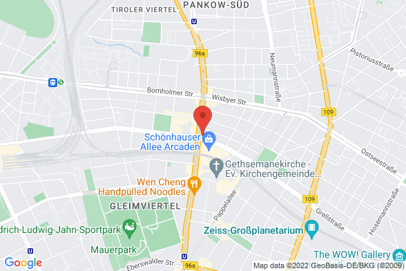 https://maps.googleapis.com/maps/api/staticmap?markers=color:red|Schönhauser Allee 83 10439 Berlin&center=Schönhauser Allee 83 10439 Berlin&zoom=14&size=588x392&key=AIzaSyBq_Y8YRNWV5l-KFo7MeT1QgfjIbI8vc3c