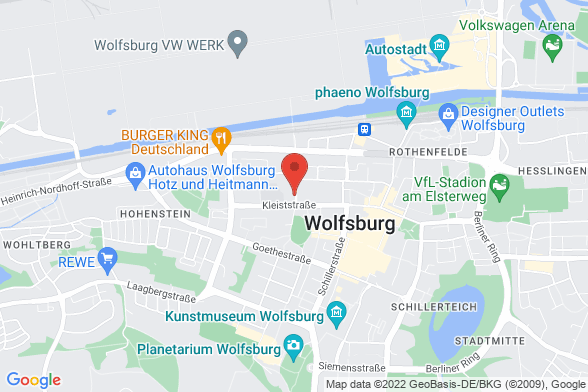 https://maps.googleapis.com/maps/api/staticmap?markers=color:red|Schachtweg 30 38440 Wolfsburg&center=Schachtweg 30 38440 Wolfsburg&zoom=14&size=588x392&key=AIzaSyBq_Y8YRNWV5l-KFo7MeT1QgfjIbI8vc3c