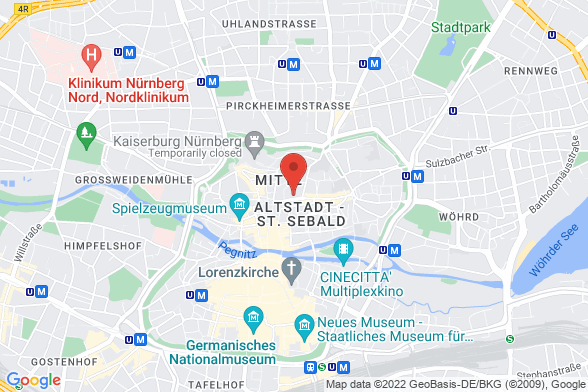 https://maps.googleapis.com/maps/api/staticmap?markers=color:red|Theresienstraße 9 90403 Nürnberg&center=Theresienstraße 9 90403 Nürnberg&zoom=14&size=588x392&key=AIzaSyBq_Y8YRNWV5l-KFo7MeT1QgfjIbI8vc3c