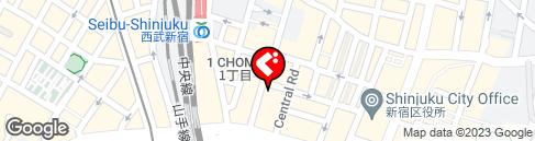 チーズ&個室肉バル カリーナ 新宿店 の地図