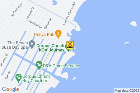 Corpus Christi KOA Journey Map