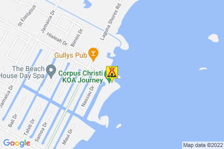 Corpus Christi KOA Map