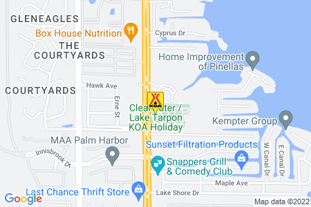 Clearwater / Lake Tarpon KOA Map