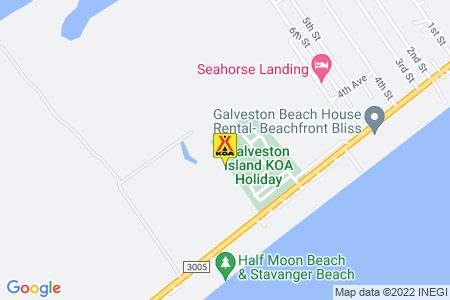 Galveston Island KOA Map