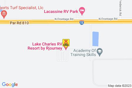 Lake Charles East / Iowa KOA Map