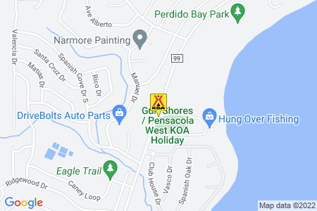 Gulf Shores / Pensacola West KOA Map